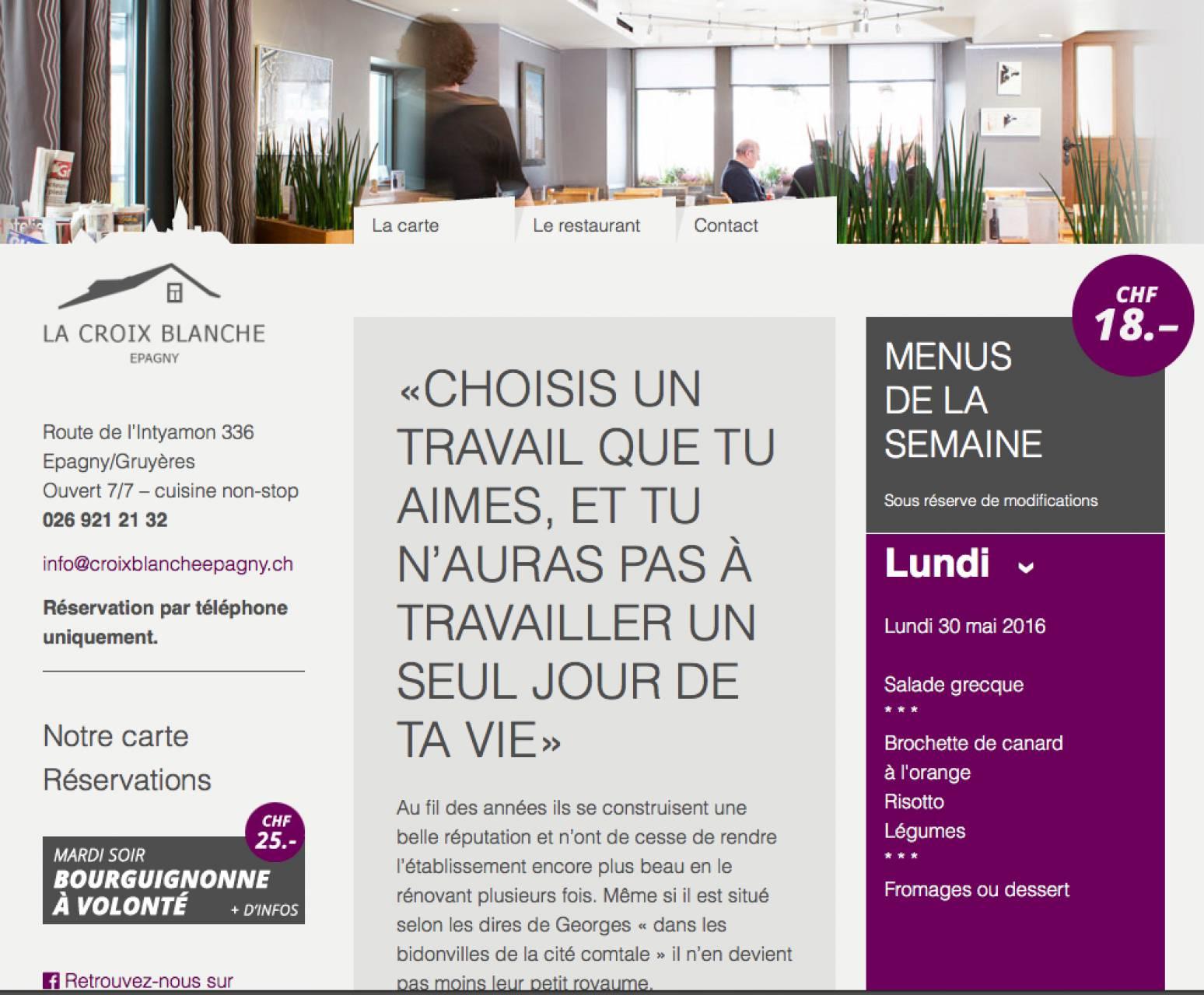Relooking Globale De La Communication Du Restaurant Carte Des Menus Cartes Visite Page FacebookR Creation Et Alimentation Site Internet